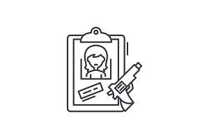 Clues line icon concept. Clues