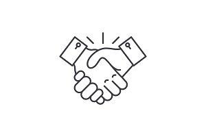 Collaboration line icon concept