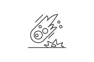 Comet line icon concept. Comet