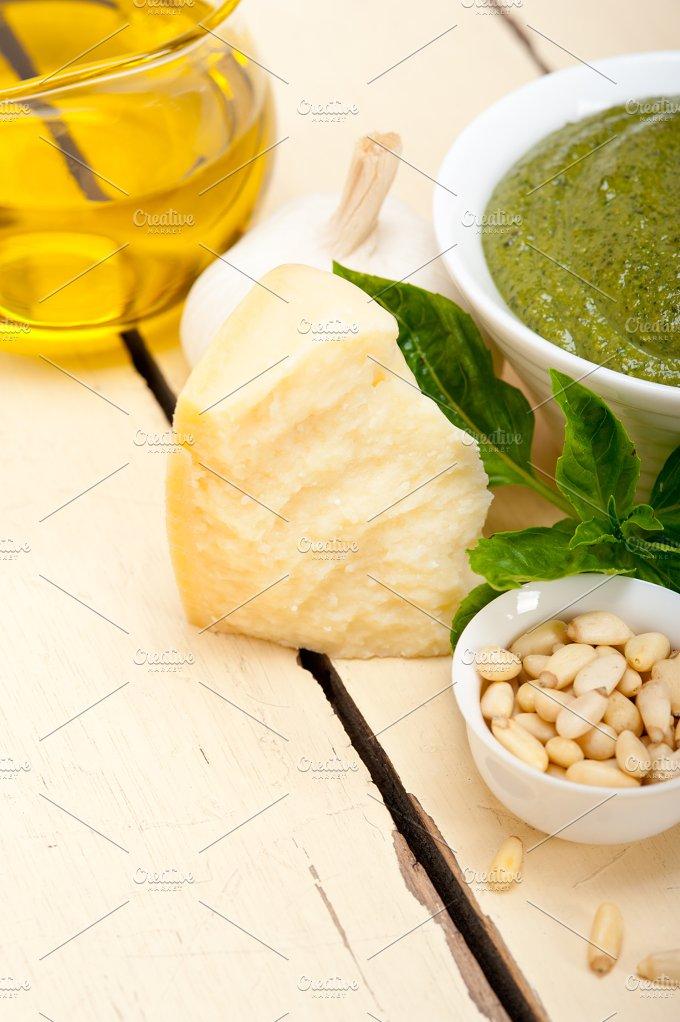 Italian classic basil pesto sauce ingredients 041.jpg - Food & Drink