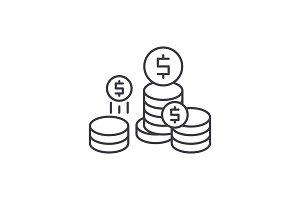 Company profit line icon concept