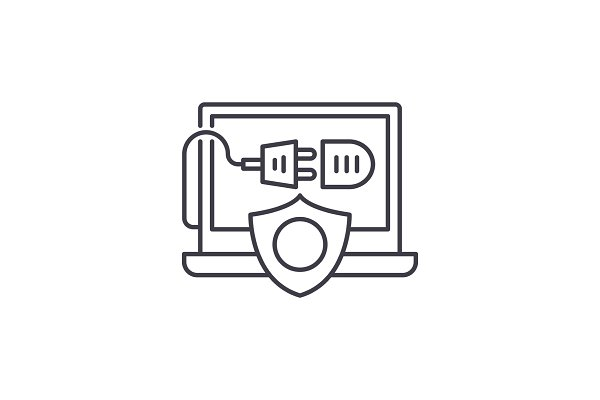 Computer energy protection line ico…