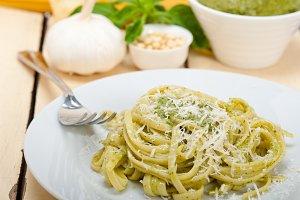 Italian classic trenette pasta and basil pesto sauce 001.jpg