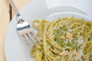 Italian classic trenette pasta and basil pesto sauce 006.jpg