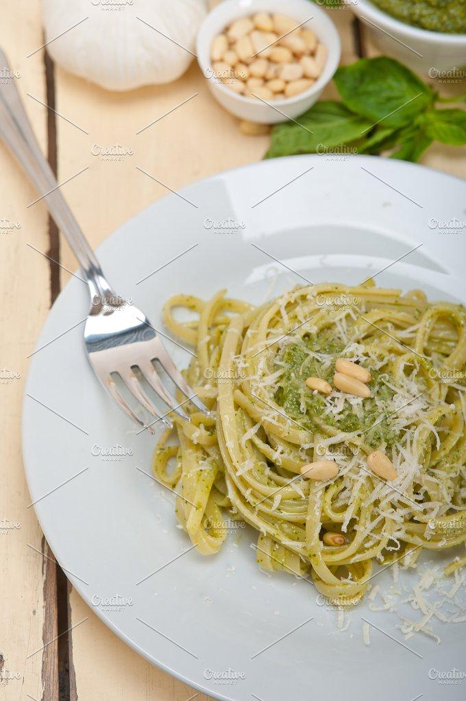 Italian classic trenette pasta and basil pesto sauce 006.jpg - Food & Drink