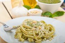 Italian classic trenette pasta and basil pesto sauce 007.jpg