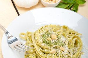 Italian classic trenette pasta and basil pesto sauce 010.jpg
