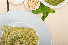 Italian classic trenette pasta and basil pesto sauce 011.jpg