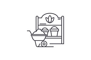 Country house line icon concept