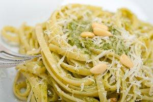 Italian classic trenette pasta and basil pesto sauce 016.jpg