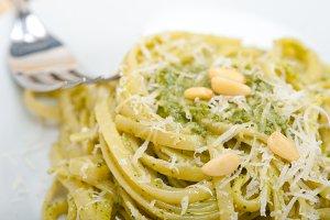 Italian classic trenette pasta and basil pesto sauce 017.jpg