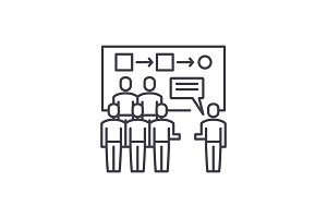 Customer segmentation line icon
