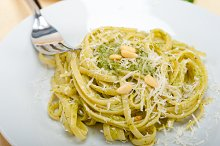 Italian classic trenette pasta and basil pesto sauce 019.jpg