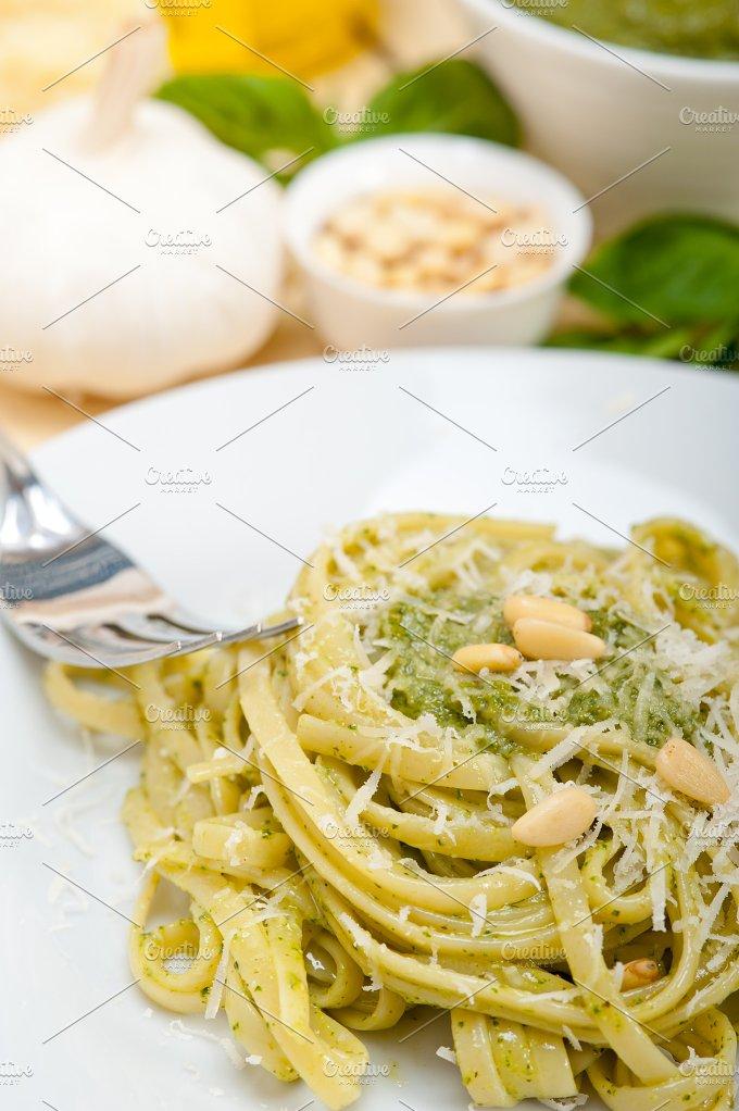 Italian classic trenette pasta and basil pesto sauce 021.jpg - Food & Drink