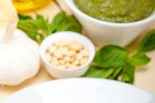 Italian classic trenette pasta and basil pesto sauce 022.jpg