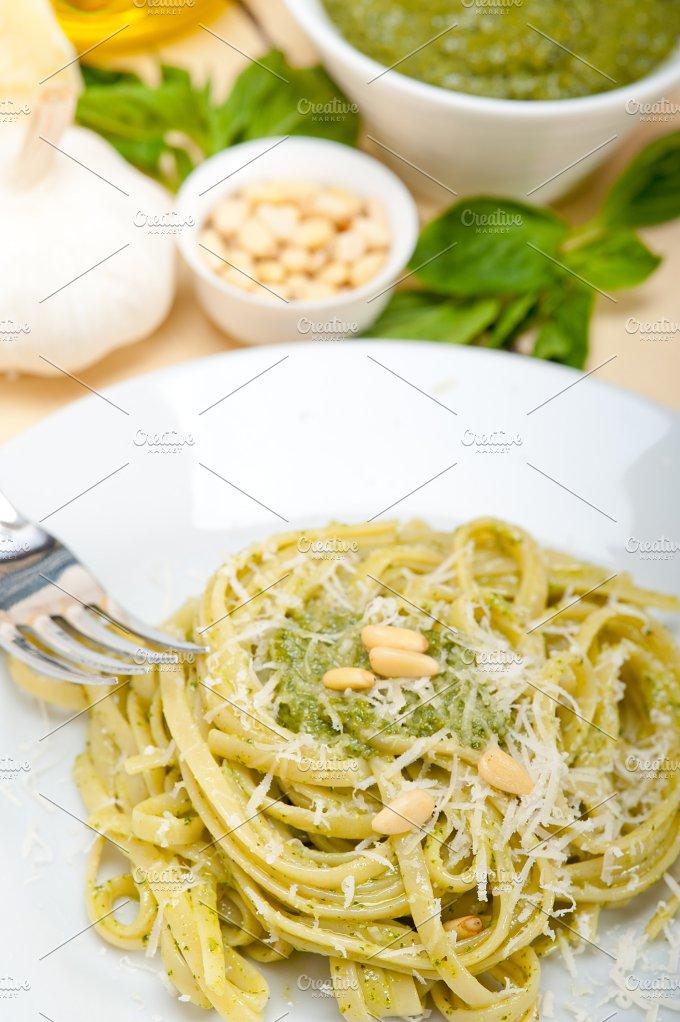 Italian classic trenette pasta and basil pesto sauce 022.jpg - Food & Drink