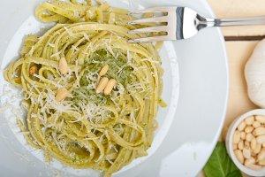 Italian classic trenette pasta and basil pesto sauce 023.jpg