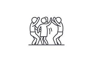 Dance party line icon concept. Dance