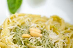 Italian classic trenette pasta and basil pesto sauce 026.jpg