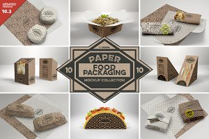 VOL.10 Food Box Packaging Mockups
