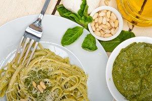 Italian classic trenette pasta and basil pesto sauce 028.jpg
