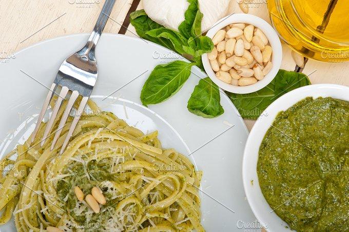 Italian classic trenette pasta and basil pesto sauce 028.jpg - Food & Drink