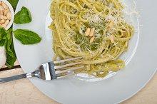 Italian classic trenette pasta and basil pesto sauce 030.jpg