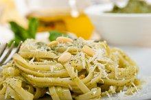 Italian classic trenette pasta and basil pesto sauce 031.jpg