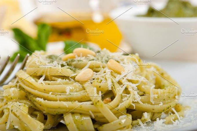 Italian classic trenette pasta and basil pesto sauce 031.jpg - Food & Drink