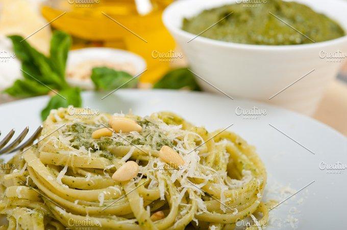 Italian classic trenette pasta and basil pesto sauce 032.jpg - Food & Drink