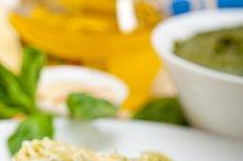 Italian classic trenette pasta and basil pesto sauce 033.jpg