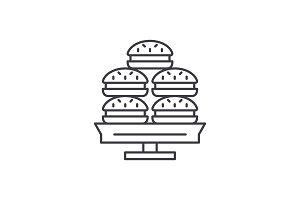 Dessert line icon concept. Dessert
