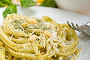 Italian classic trenette pasta and basil pesto sauce 034.jpg