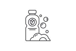 Detergent line icon concept