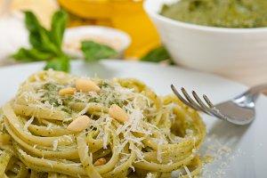 Italian classic trenette pasta and basil pesto sauce 035.jpg