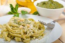 Italian classic trenette pasta and basil pesto sauce 036.jpg
