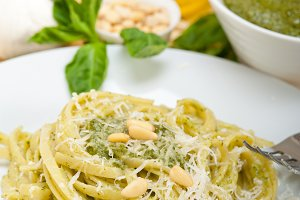 Italian classic trenette pasta and basil pesto sauce 037.jpg