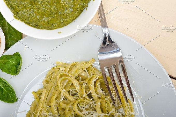 Italian classic trenette pasta and basil pesto sauce 041.jpg - Food & Drink