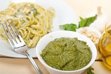 Italian classic trenette pasta and basil pesto sauce 042.jpg