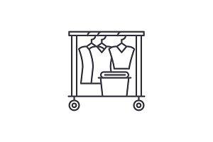Dresser line icon concept. Dresser