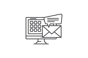 E mail line icon concept. E mail