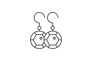 Earring line icon concept. Earring