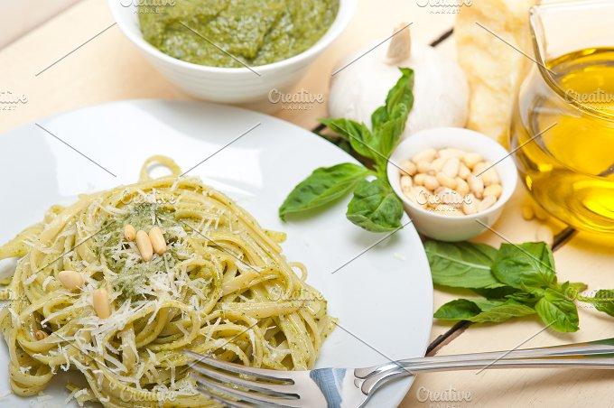 Italian classic trenette pasta and basil pesto sauce 045.jpg - Food & Drink
