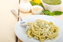 Italian classic trenette pasta and basil pesto sauce 047.jpg