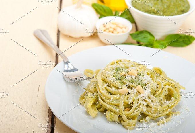 Italian classic trenette pasta and basil pesto sauce 047.jpg - Food & Drink