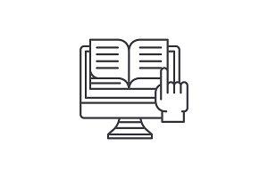 Ebooks line icon concept. Ebooks