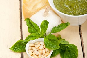 Italian organic basil pesto sauce ingredients 003.jpg