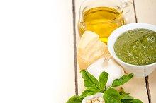 Italian organic basil pesto sauce ingredients 004.jpg