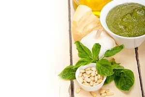 Italian organic basil pesto sauce ingredients 004.jpg
