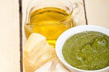 Italian organic basil pesto sauce ingredients 005.jpg